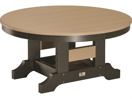 Berlin Gardens Accessories Recycled Plastic 38''Wide Round Conversation Table BLGPRCT0018