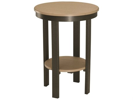 Berlin Gardens Accessories Recycled Plastic 22''Wide Round Bar Table BLGPRET3222