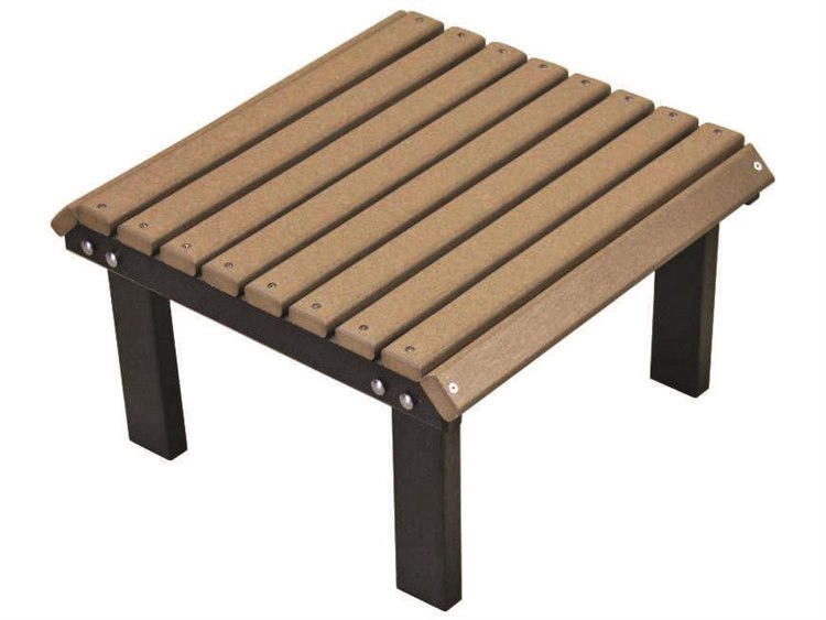 Berlin Gardens Accessories Recycled Plastic Stationary Footstool PatioLiving