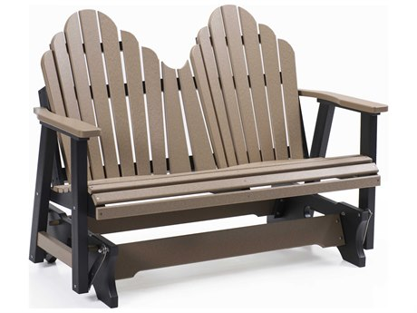 Berlin Gardens Cozi-Back Recycled Plastic Double Glider in Stainless Brackets PatioLiving