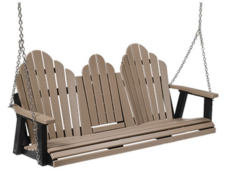 Berlin Gardens Comfo-back Recycled Plastic Sofa Swing in Stainless Bracket