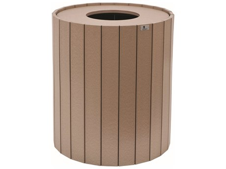 Berlin Gardens Accessories Recycled Plastic Round Trash Can BLGRTC32