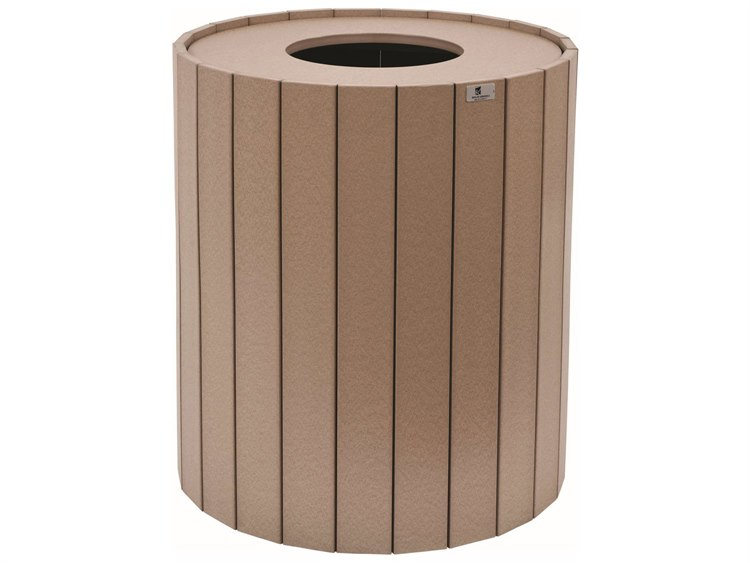 Berlin Gardens Accessories Recycled Plastic Round Trash Can PatioLiving