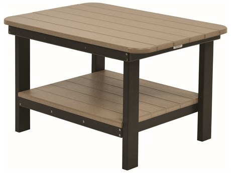 Berlin Gardens Accessories Recycled Plastic 30''W x 21''D Rectangular Coffee Table PatioLiving