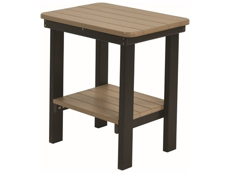 Berlin Gardens Accessories Recycled Plastic 21''W x 15''D Rectangular End Table PatioLiving
