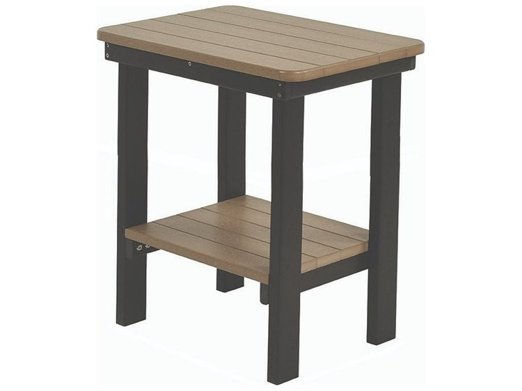 Berlin Gardens Accessories Recycled Plastic 21''W x 15''D Rectangular Counter End Table PatioLiving
