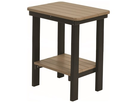 Berlin Gardens Accessories Recycled Plastic 21''W x 15''D Rectangular Bar End Table PatioLiving