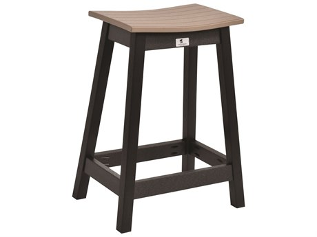 Berlin Gardens Recycled Plastic Saddle Counter Stool BLGSDCS2026