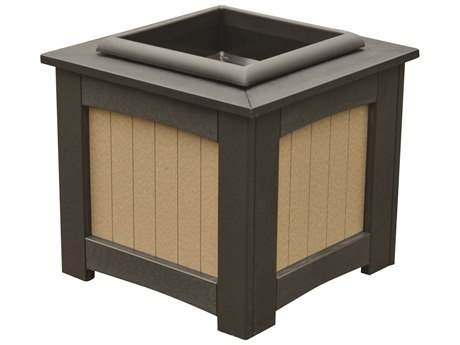 "Berlin Gardens Accessories Recycled Plastic 18"" Square Planter with Insert PatioLiving"