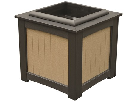 Berlin Gardens Accessories Recycled Plastic 22''Wide Square Planter with Insert PatioLiving
