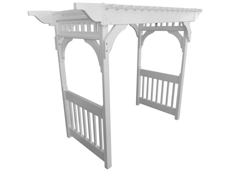 Berlin Gardens Recycled Plastic Vinyl Swing Arbor With Concrete Anchors PatioLiving