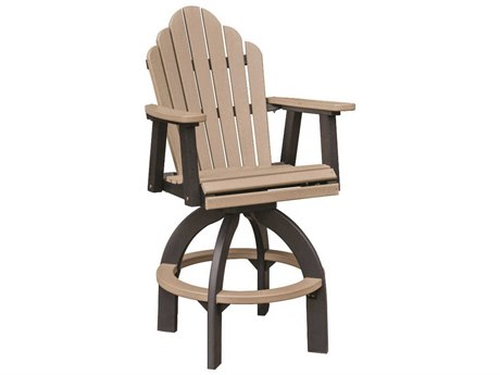 "Berlin Gardens Cozi-Back Recycled Plastic Swivel 30"" XT Chair PatioLiving"