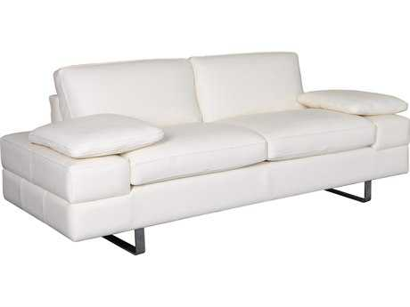 Bellini Lindo White Loveseat