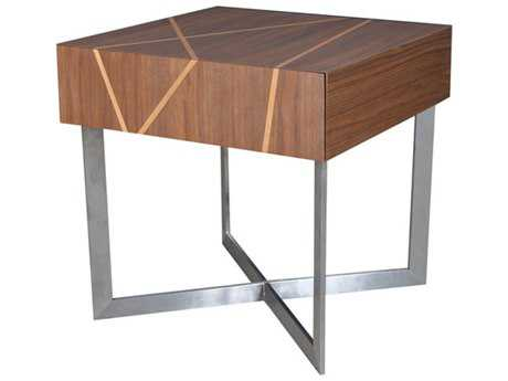 Bellini Shadow Walnut 22'' Wide Square End Table