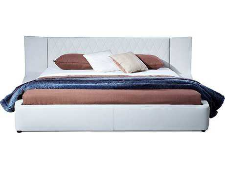 Bellini Valentina White King Size Platform Bed