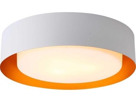Bromi Design Lynch White with Gold Three-Lights 16'' Wide Flush Mount Light