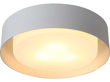 Bromi Design Lynch White with Silver Three-Lights 16'' Wide Flush Mount Light