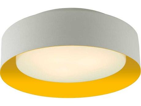Bromi Design Lynch White with Yellow Three-Lights 16'' Wide Flush Mount Light
