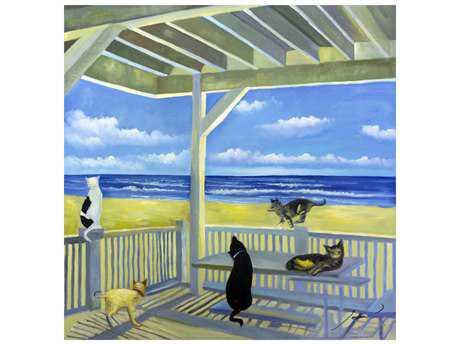 Bromi Design Ocean Cats Wall Art