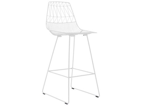 Bend Goods Outdoor Lucy White Metal Bar Stool (Sold in 2) BOOBARLUCYWH