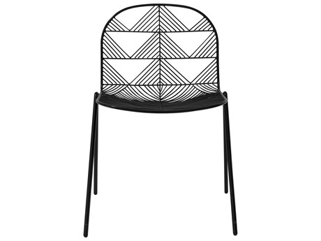 Bend Goods Outdoor Betty Black Metal Dining Chair (Sold in 2) PatioLiving