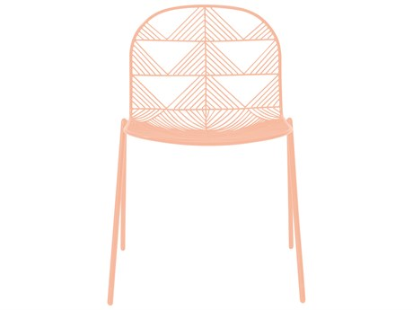 Bend Goods Outdoor Betty Peachy Pink Metal Dining Chair (Sold in 2) PatioLiving