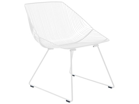 Bend Goods Outdoor Bunny White Metal Lounge Chair PatioLiving