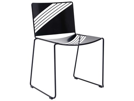Bend Goods Outdoor Cafe Black Metal Dining Chair BOOCAFECHAIRBLK