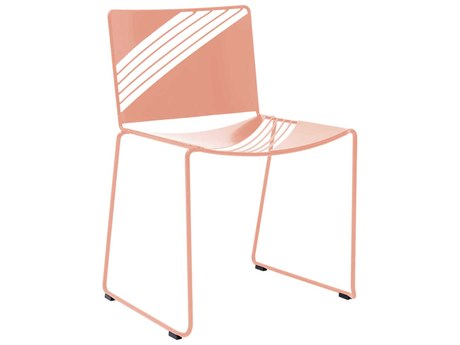 Bend Goods Outdoor Cafe Pink Metal Dining Chair BOOCAFECHAIRPNK