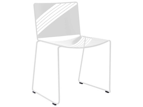 Bend Goods Outdoor Cafe White Metal Dining Chair BOOCAFECHAIRWH