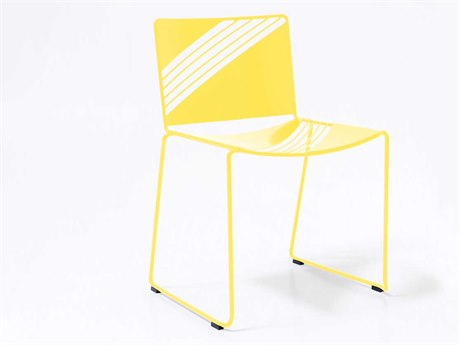 Bend Goods Outdoor Cafe Yellow Metal Dining Chair BOOCAFECHAIRYLW