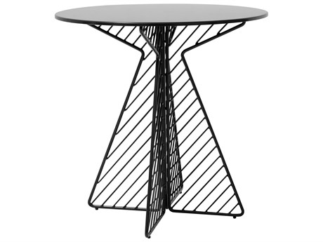 Bend Goods Outdoor Cafe Black 30'' Wide Round Bistro Table BOOCAFETABLEBK