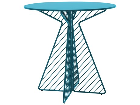 Bend Goods Outdoor Cafe Peacock 30'' Wide Round Bistro Table BOOCAFETABLEPC