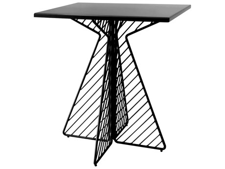 Cafe Black 30'' Wide Square Dining Table