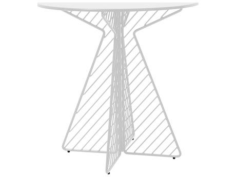 Bend Goods Outdoor Cafe White 30'' Wide Round Bistro Table PatioLiving