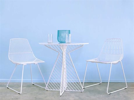 Bend Goods Outdoor Cafe Dining Set BOOCAFETABLEWHSET2