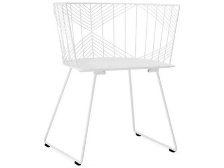 Bend Goods Outdoor Captain White Metal Dining Chair