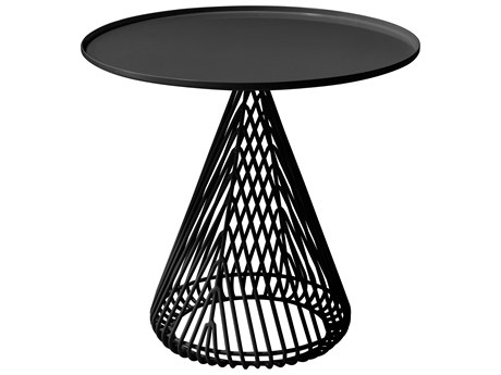 Bend Goods Outdoor Cono Black 20'' Wide Round End Table BOOCONICALTABLEBLK