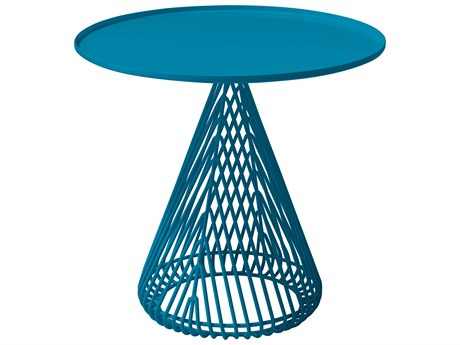 Bend Goods Outdoor Cono Peacock 20'' Wide Round End Table BOOCONICALTABLEPC