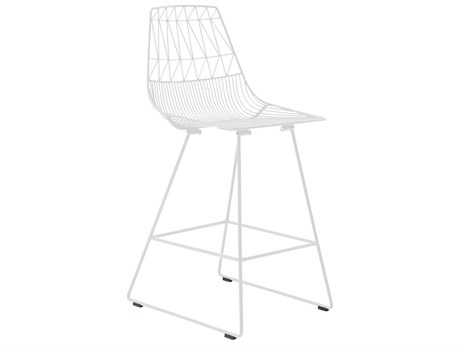 Bend Goods Outdoor Lucy White Metal Counter Stool (Sold in 2) BOOCOUNTERLUCYWH