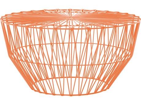 Bend Goods Outdoor Drum Orange 25'' Wide Round Coffee Table BOODRUMOR