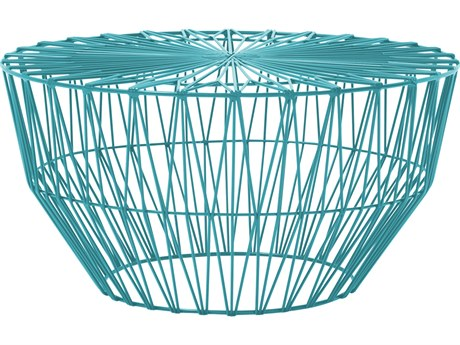 Bend Goods Outdoor Drum Peacock 25'' Wide Round Coffee Table BOODRUMPC