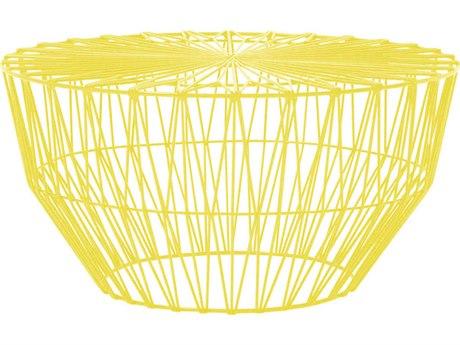 Bend Goods Outdoor Drum Yellow 25'' Wide Round Coffee Table BOODRUMYEL