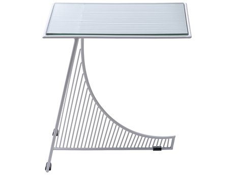Bend Goods Outdoor Eclipse White 18'' Wide Rectangular End Table PatioLiving
