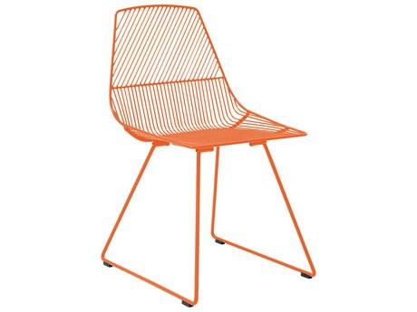 Bend Goods Outdoor Ethel Orange Metal Dining Chair (Sold in 2) BOOETHELOR