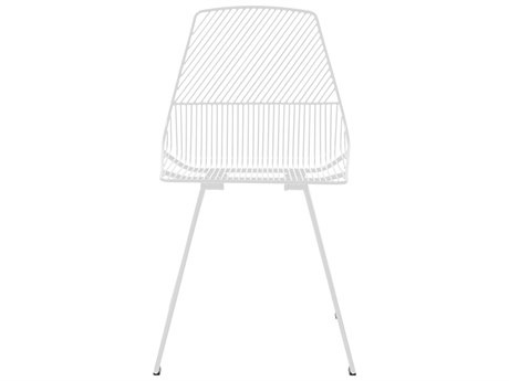 Bend Goods Outdoor Ethel White Metal Dining Chair (Sold in 2) PatioLiving
