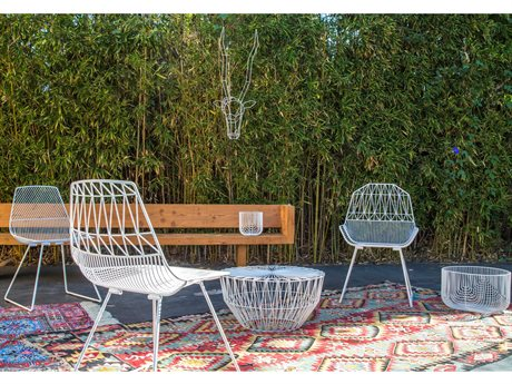 Bend Goods Outdoor Farmhouse Metal Lounge Set BOOFARMWHSET1