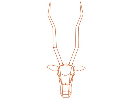 Bend Goods Outdoor Orange Gazelle Wall Art