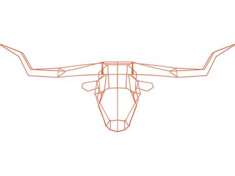 Bend Goods Outdoor Orange Long Horn Wall Art