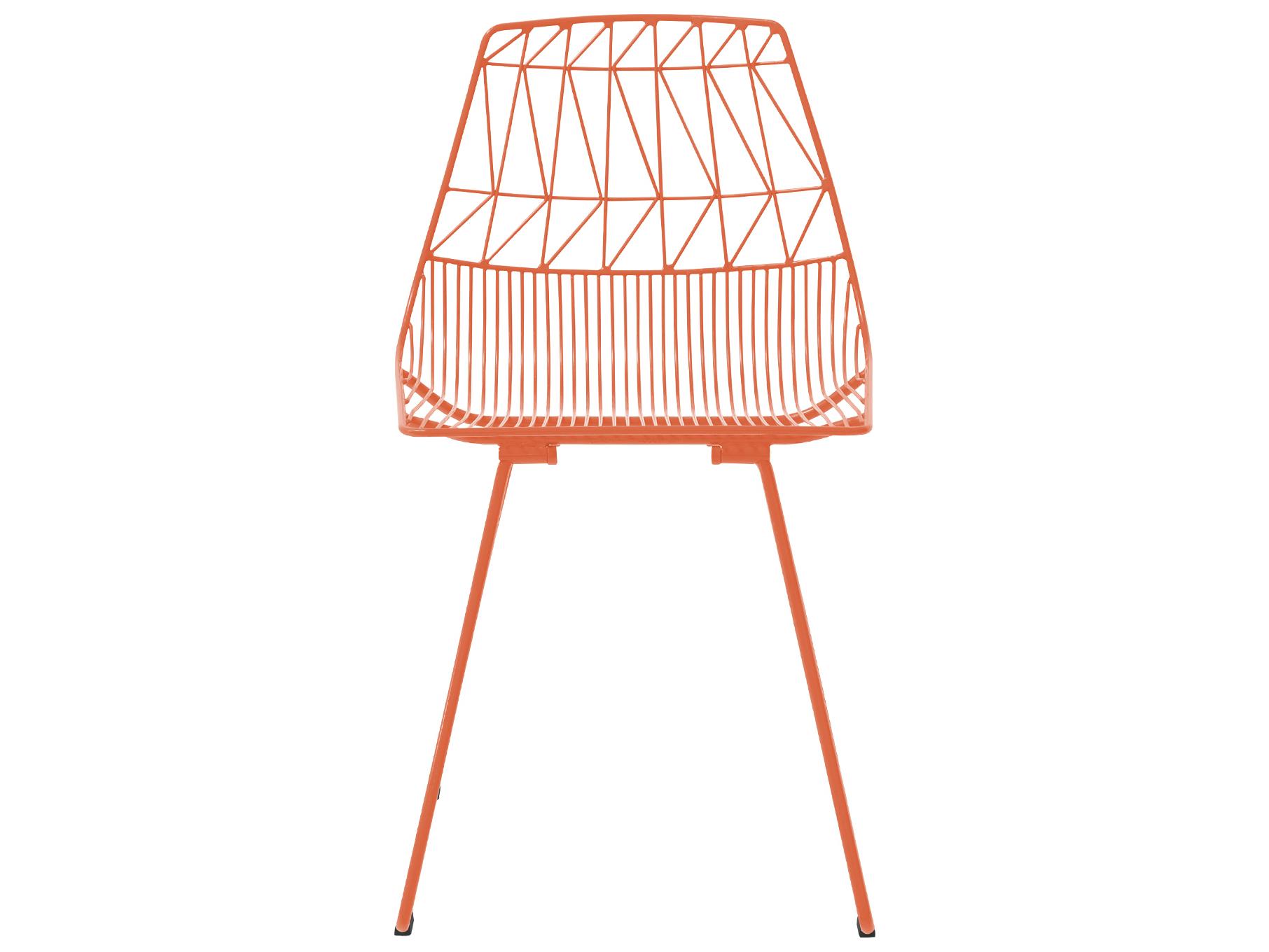 Bend Goods Outdoor Lucy Orange Metal Dining Chair Sold In 2 Boolucyor